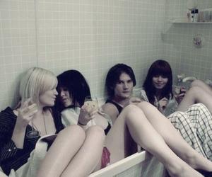 bathroom, boy, and drink image