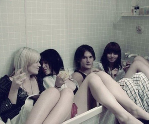 alcohol, bathroom, and drink image