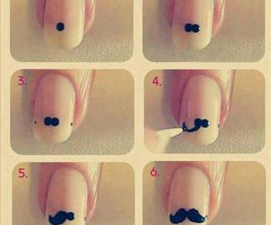 diy, moustache, and nail image