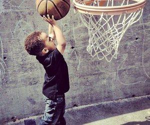Basketball, baby, and boy image