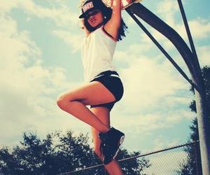 girl, Basketball, and obey image