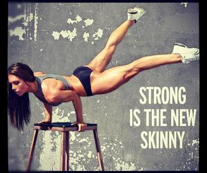 strong, skinny, and fit image