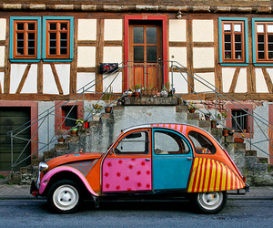 car, colorful, and colors image