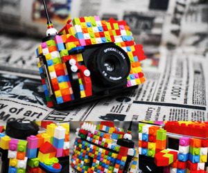 colorful, camera, and case image