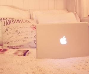 apple, bed, and pink image