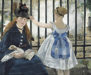 art, manet, and railway image