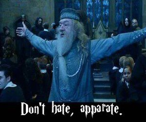 dumbledore, harry potter, and don't hate image