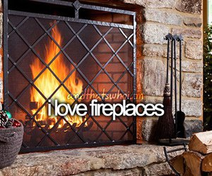 fireplace and text image