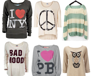 clothes, peace, and sweater image