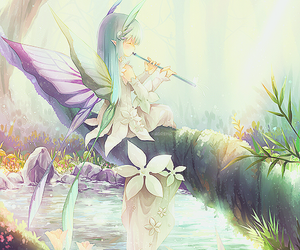 fairy, manga, and tree image