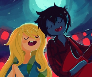 adventure time, fionna, and marshall lee image