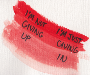 quote, red, and giving up image