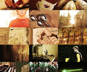 color, green, and hogwarts image