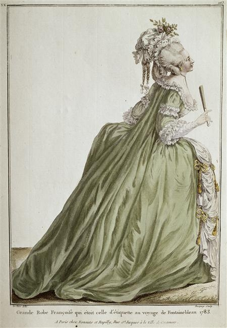 green and powdered wig image