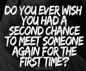 quote, wish, and second chance image