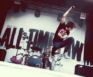 alex gaskarth, rian dawson, and all time low image