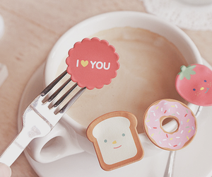 cute, I Love You, and food image