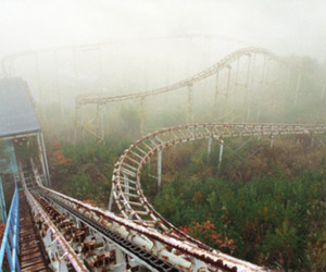 abandoned, old, and Roller Coaster image