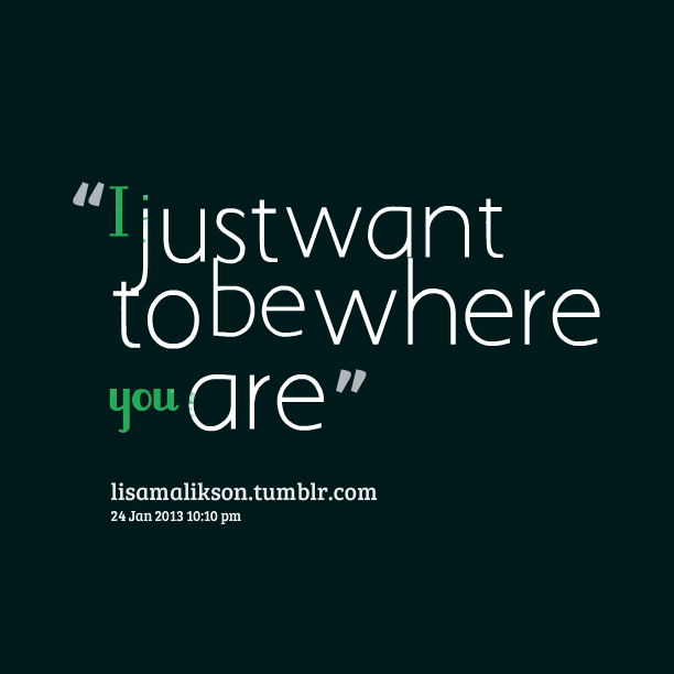 Quotes From Lisa Karijodikromo I Just Want To Be Where You Are