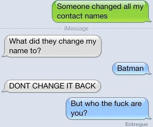 batman, funny, and text message image