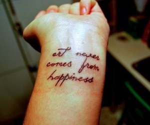 tattoo, art, and happiness image