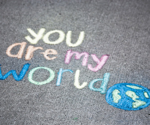 world, love, and happy image