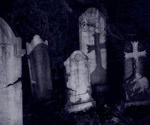 cemetery, graveyard, and cross image