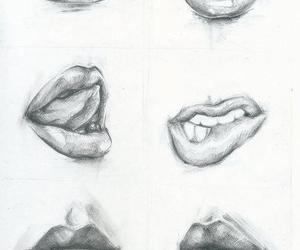 lips, drawing, and art image