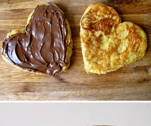 food, nutella, and heart image