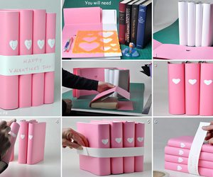 diy, book, and pink image
