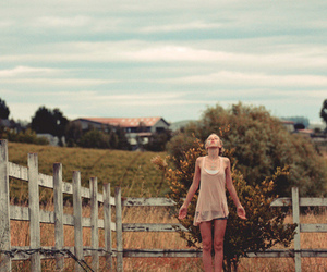 girl, farm, and nature image