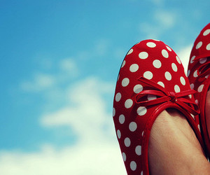 shoes, red, and sky image