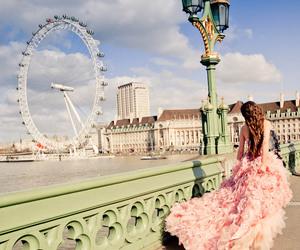 girl, dress, and london image