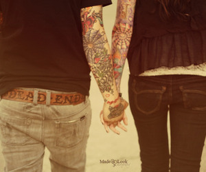 couple, guy, and Tattoos image