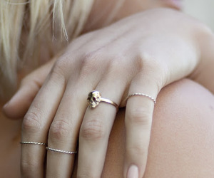 rings, bracelet, and girly image