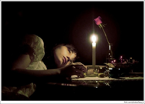 beauty, candle, and candle light image
