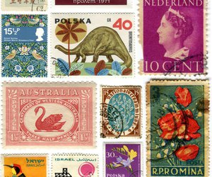 colors, vintage, and stamps image