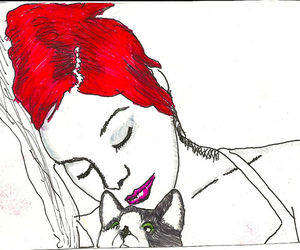 cat, red hair, and kitten image
