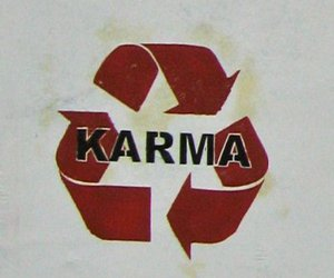 karma, text, and quote image
