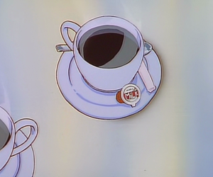 anime, coffee, and 90s image