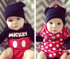 baby, minnie, and disney image