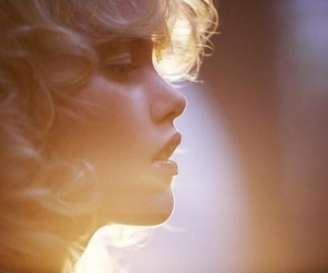 girl, blonde, and light image