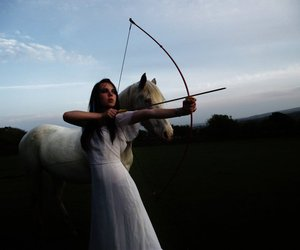 archery, horse, and archer image