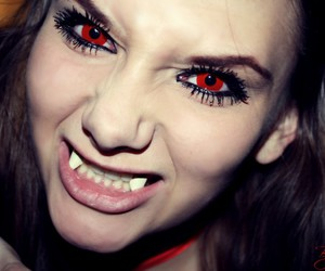 red eyes and vampire image
