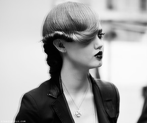 black and white, fashion, and model image