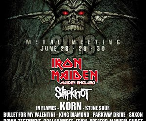 iron maiden, korn, and slipknot image