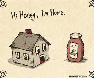 home, honey, and funny image