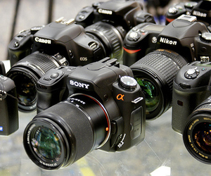 camera, canon, and nikon image