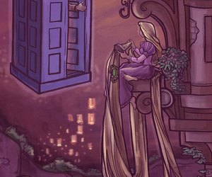 doctor who, rapunzel, and disney image