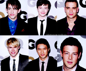 glee, cory monteith, and kevin mchale image